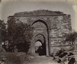 General view of Iltutmish's Tomb, Qutb, Delhi.